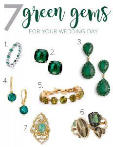 7 Green Gems for your wedding day