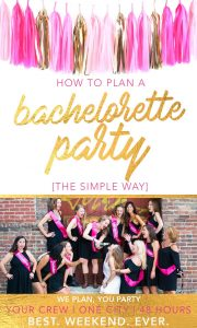 For your M.O.H. or Bach Party Planner:  The (easiest) way to plan the BEST. WEEKEND. EVER.
