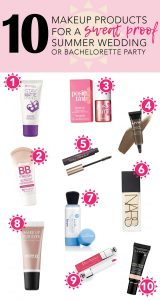 10 Summer Wedding & Bachelorette Party Makeup Products