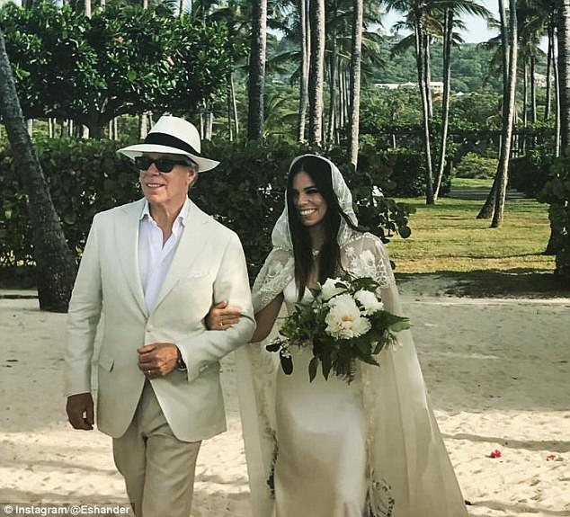Tommy Hilfiger Was Beaming When He Gave His Daughter Ally Away Over The Weekend In A Beach Wedding Ceremony Tied Knot With Her Long Time Partner