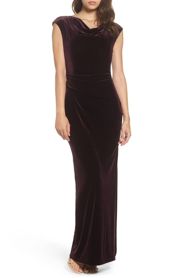 f11172f0 Left: Tahari Embellished Velvet Sheath Dress $148 Shop Here