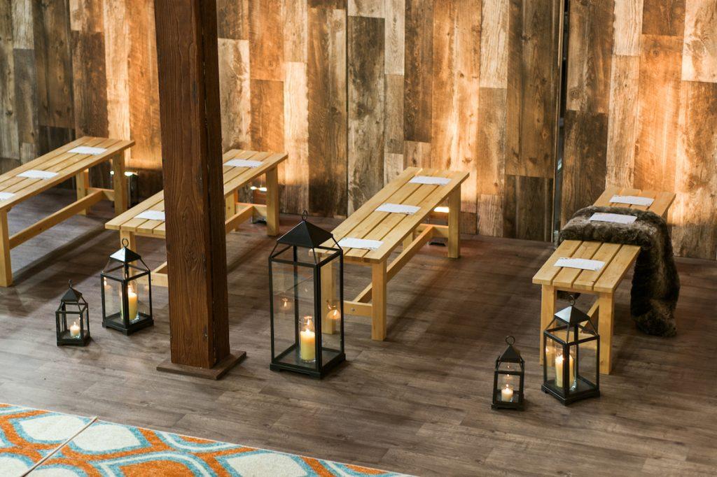 Bench wedding seating