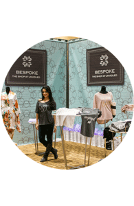 Wedding gift business booth at bridal show