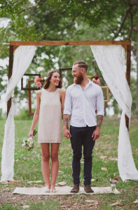 What the bride and groom should wear for a casual wedding