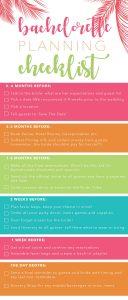 Bachelorette Planning Timeline