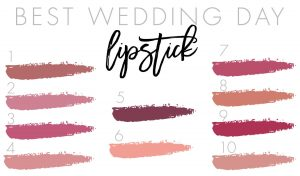 Wedding Day Lipstick Guide
