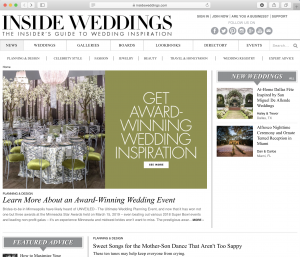 In the News: Inside Weddings
