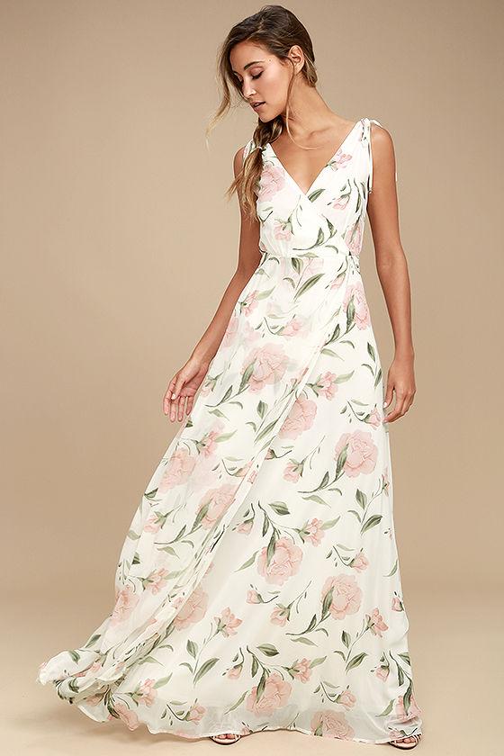 Floral casual wedding dress