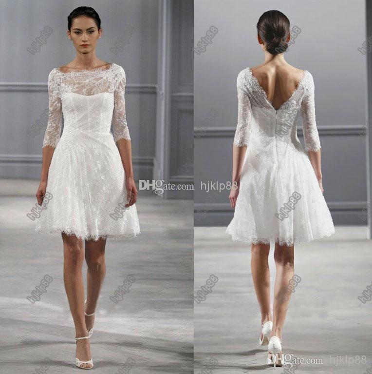 Short courthouse wedding dress