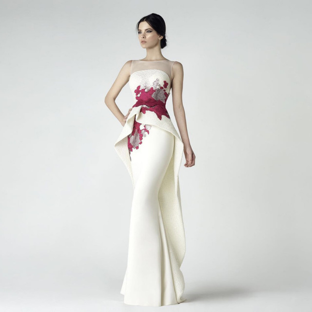Strapless ivory wedding gown