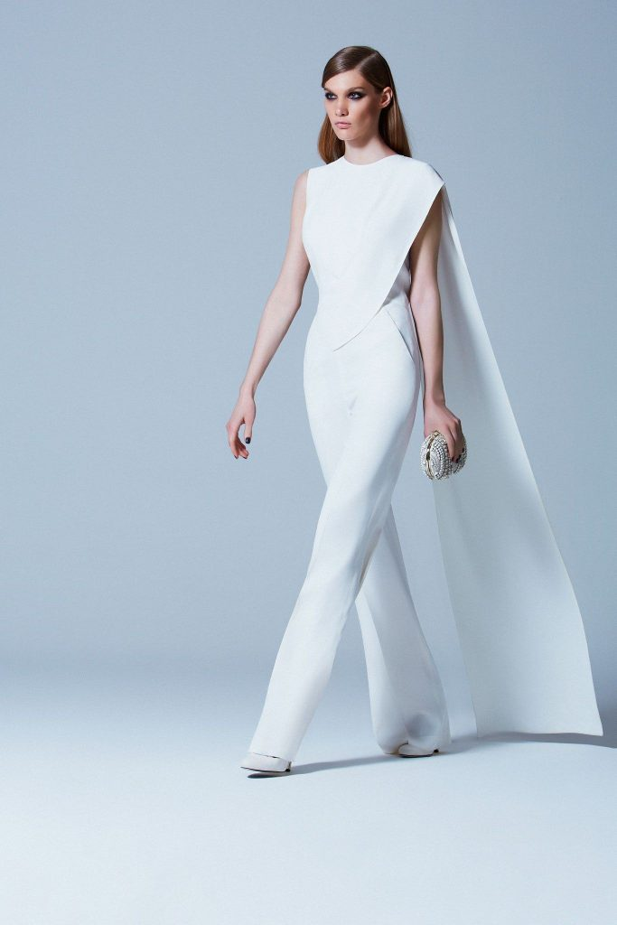 White wedding jumper with cape