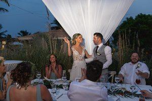 Wedding party at destination wedding