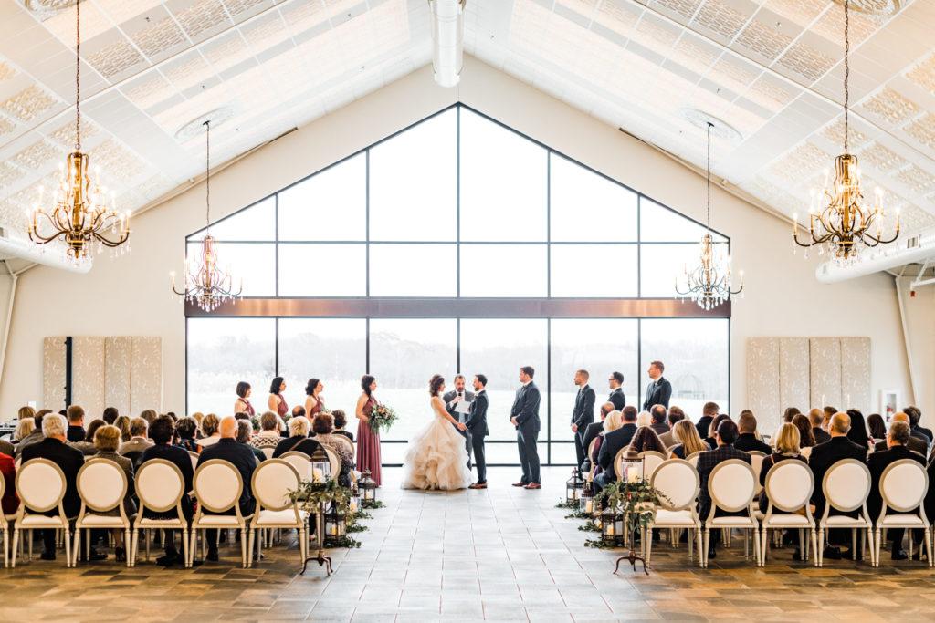 Indoor wedding ceremony at luxury venue in Minnesota