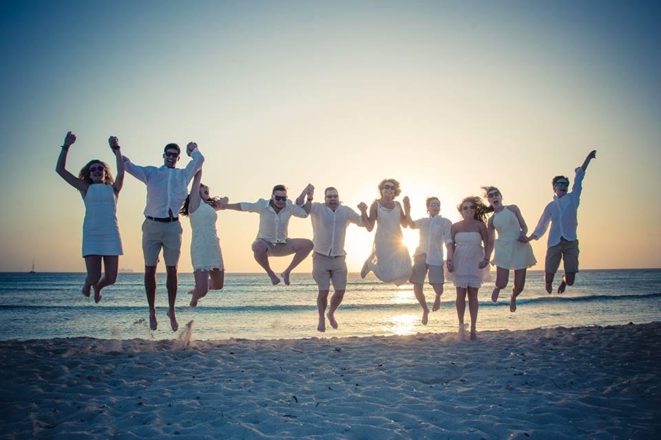 Wedding party in Aruba