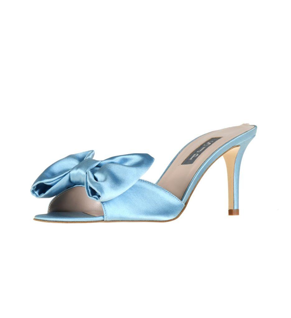 SJP Collection blue bridal shoes