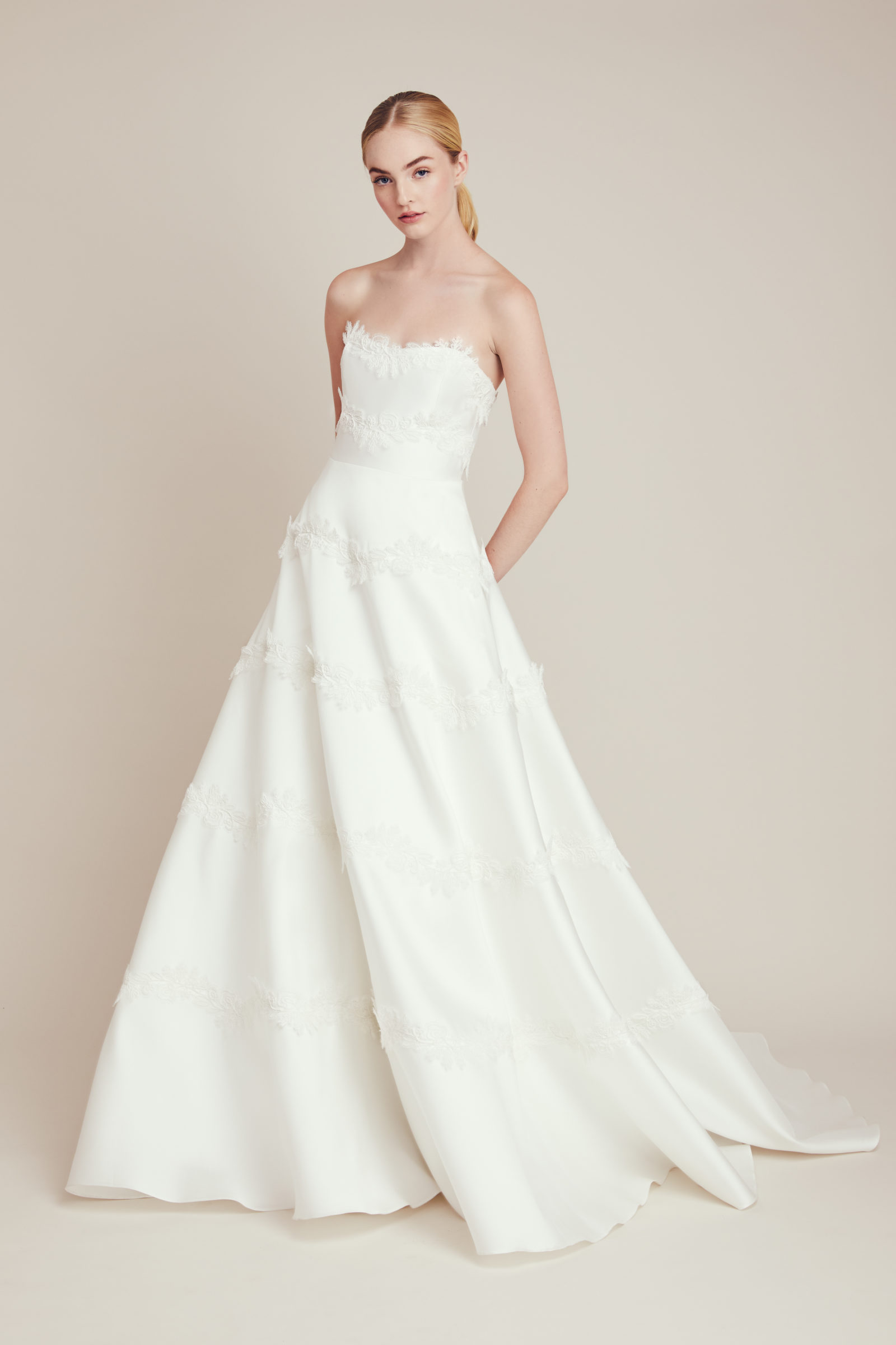 Lela Rose A-line bridal gown