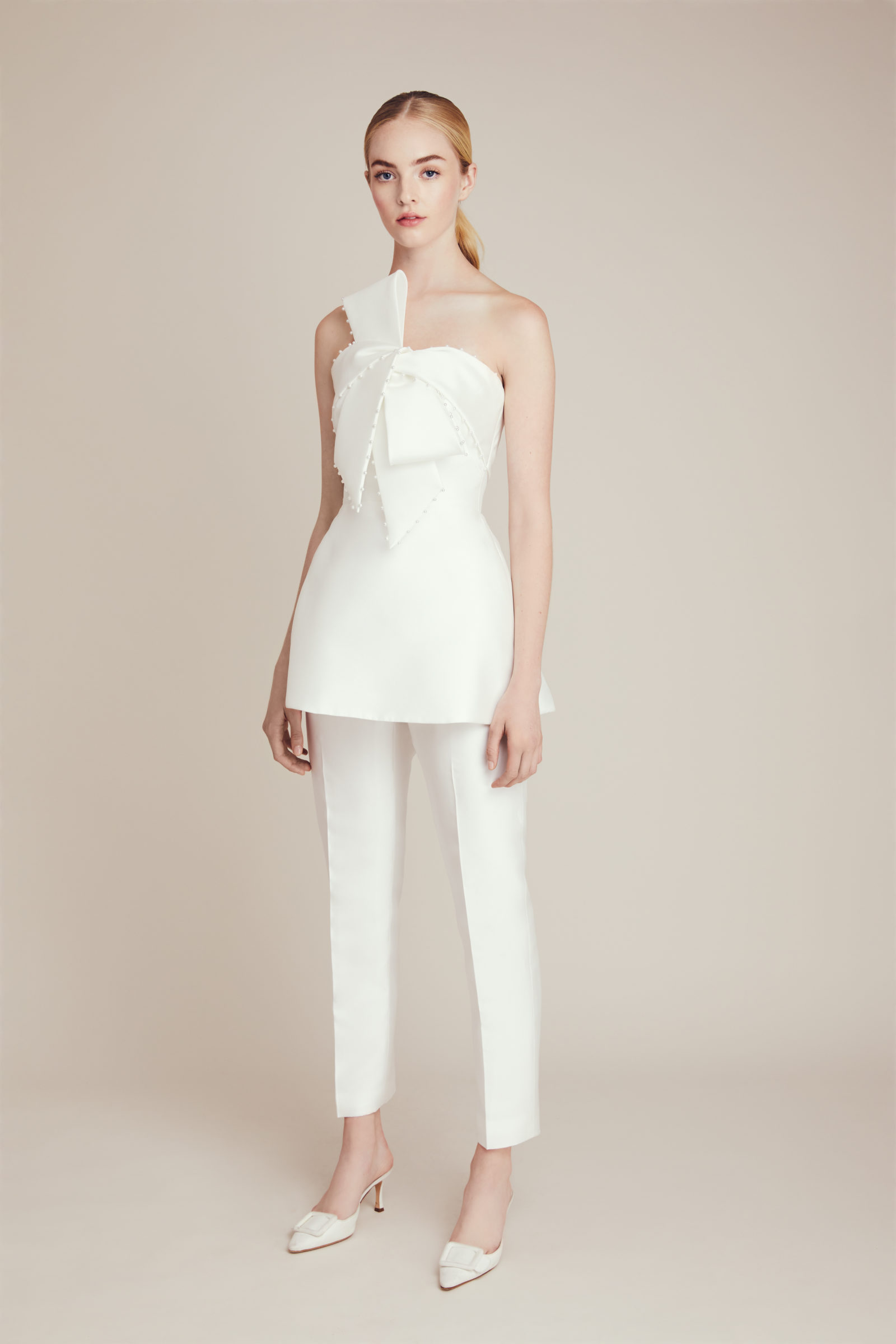 Lela Rose two-piece bridal gown