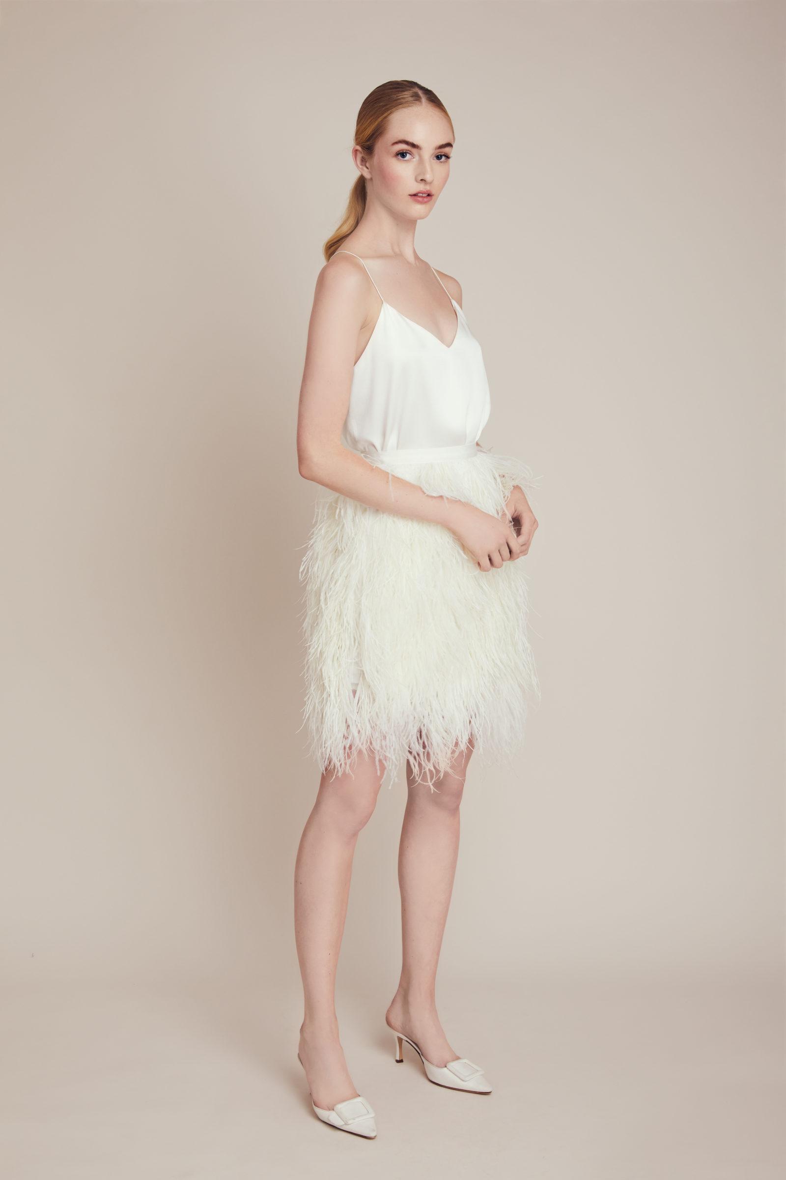 Lela Rose short bridal gown
