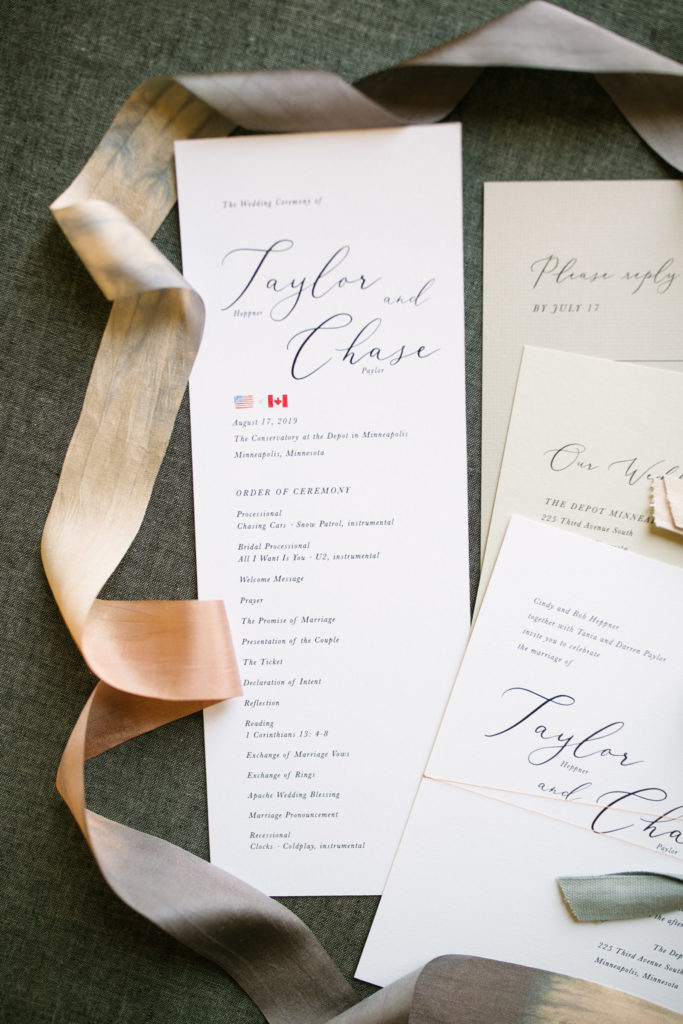 Personalization is one of many hot wedding stationery trends