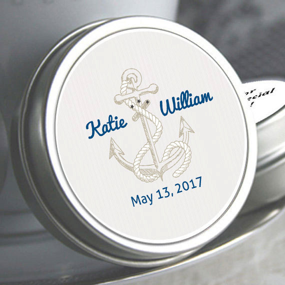 Maritime-themed mints as party favor