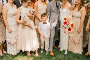 Ring bearer in neutral outfit