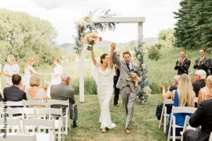 Bride and groom at Minnesota Real Wedding