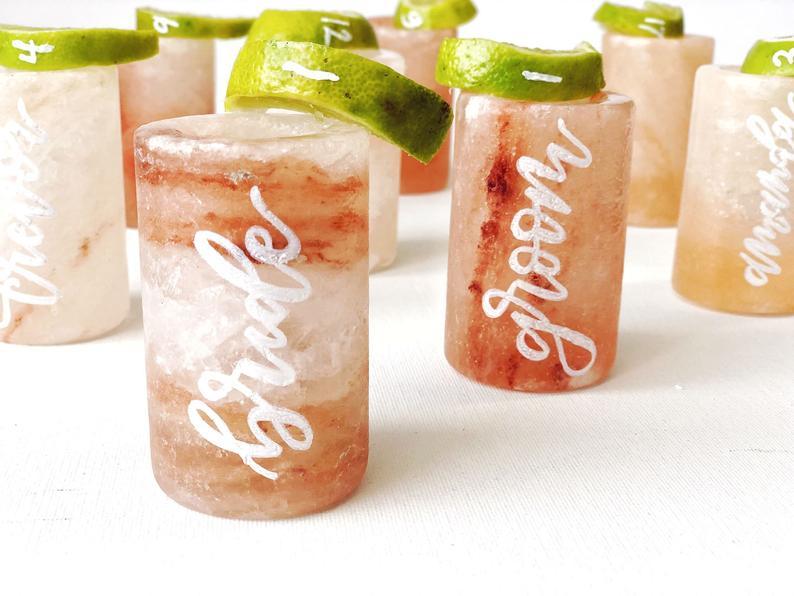 Himalayan pink salt shot glass