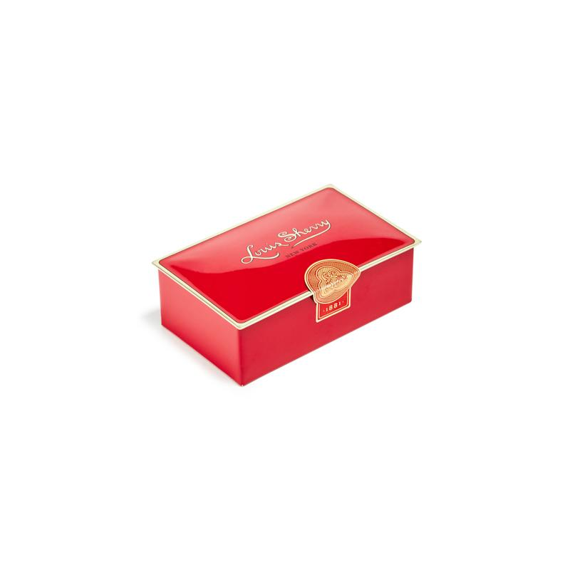 Artisan chocolates in red box