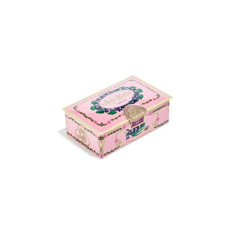Artisan chocolates in pink box