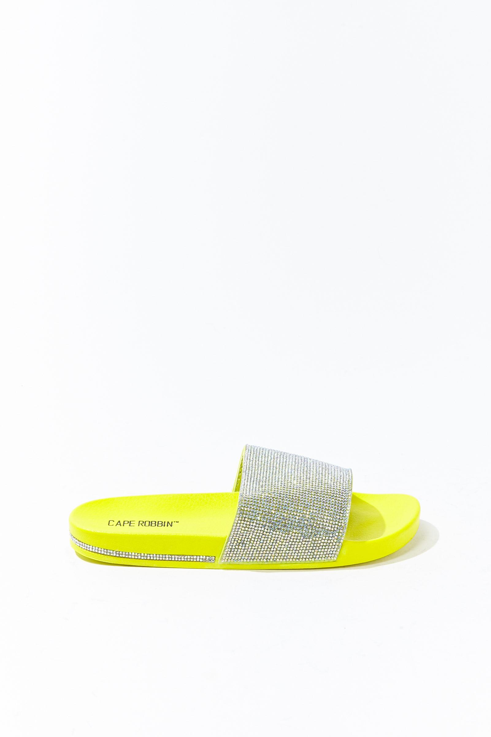 Bright yellow sandals