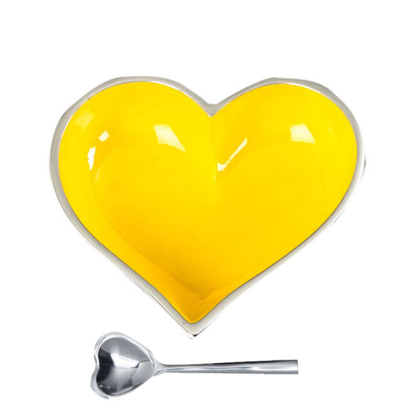 Yellow heart with spoon