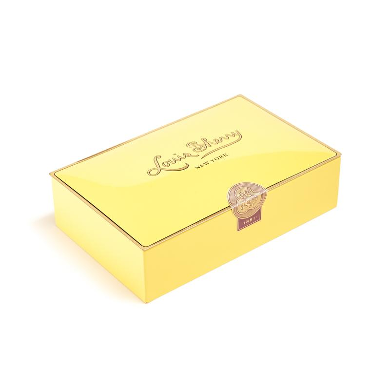 Yellow box of choclates