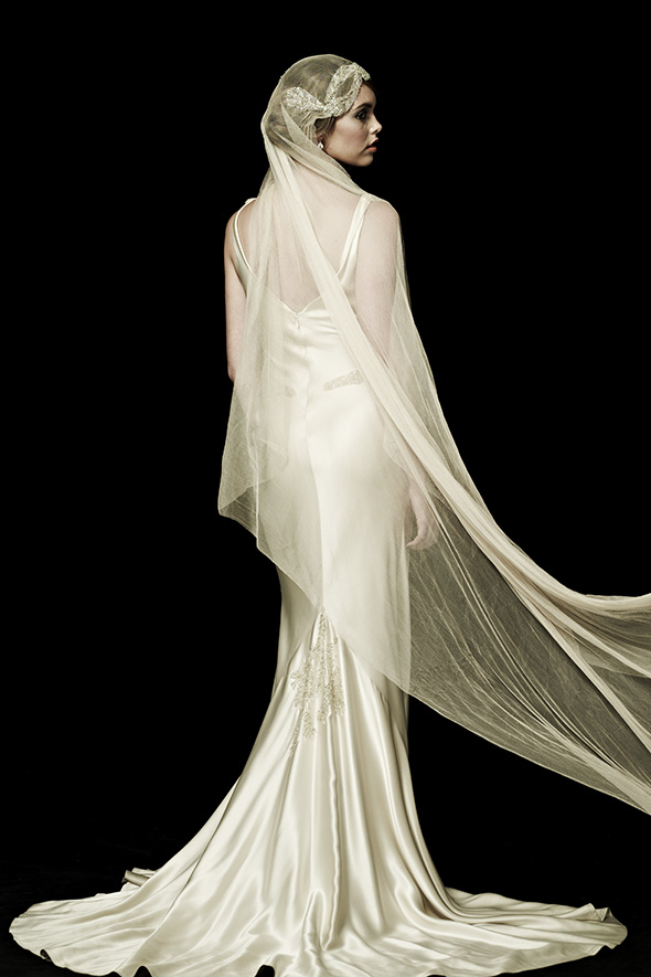 Vintage sustainable wedding gown