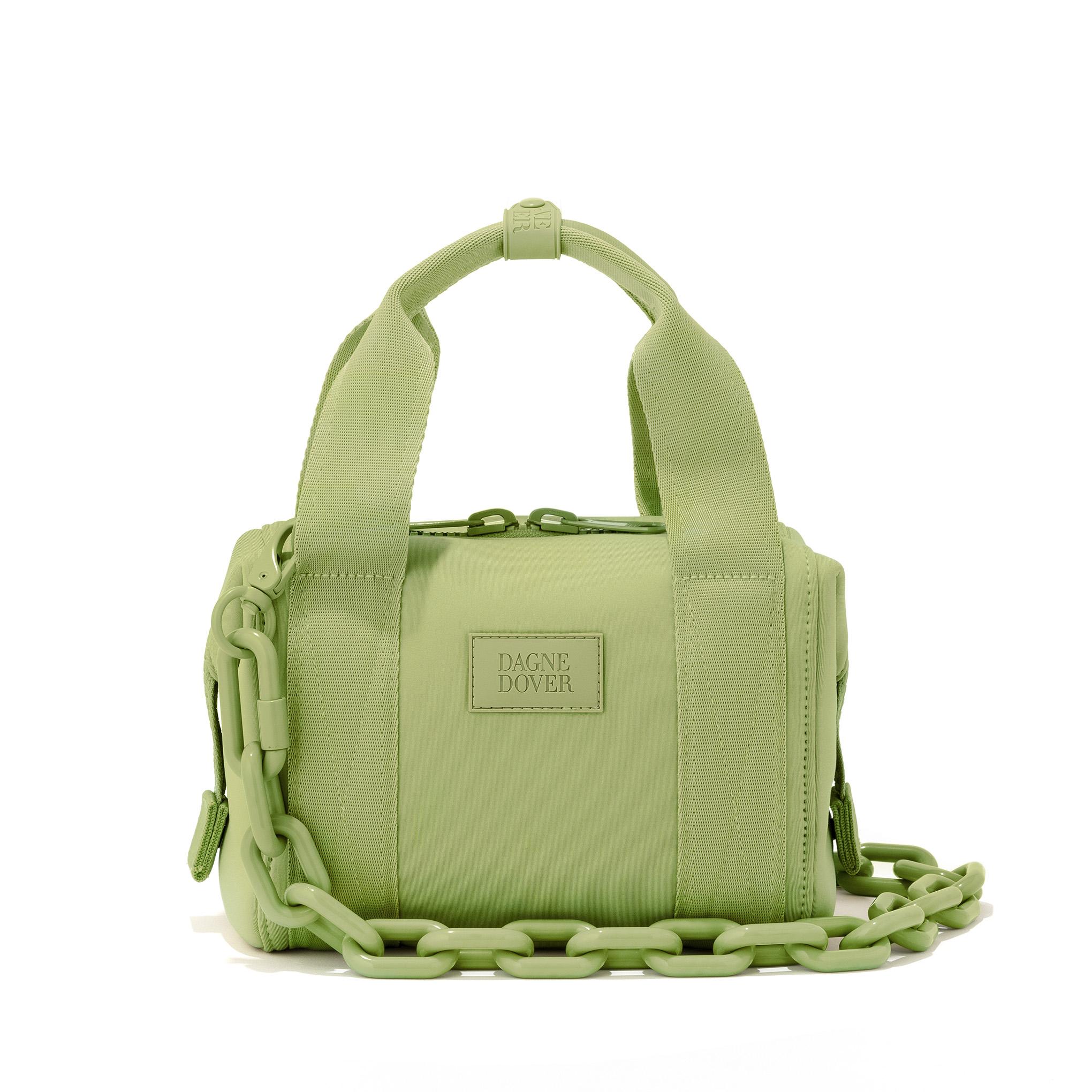 Lime travel purse