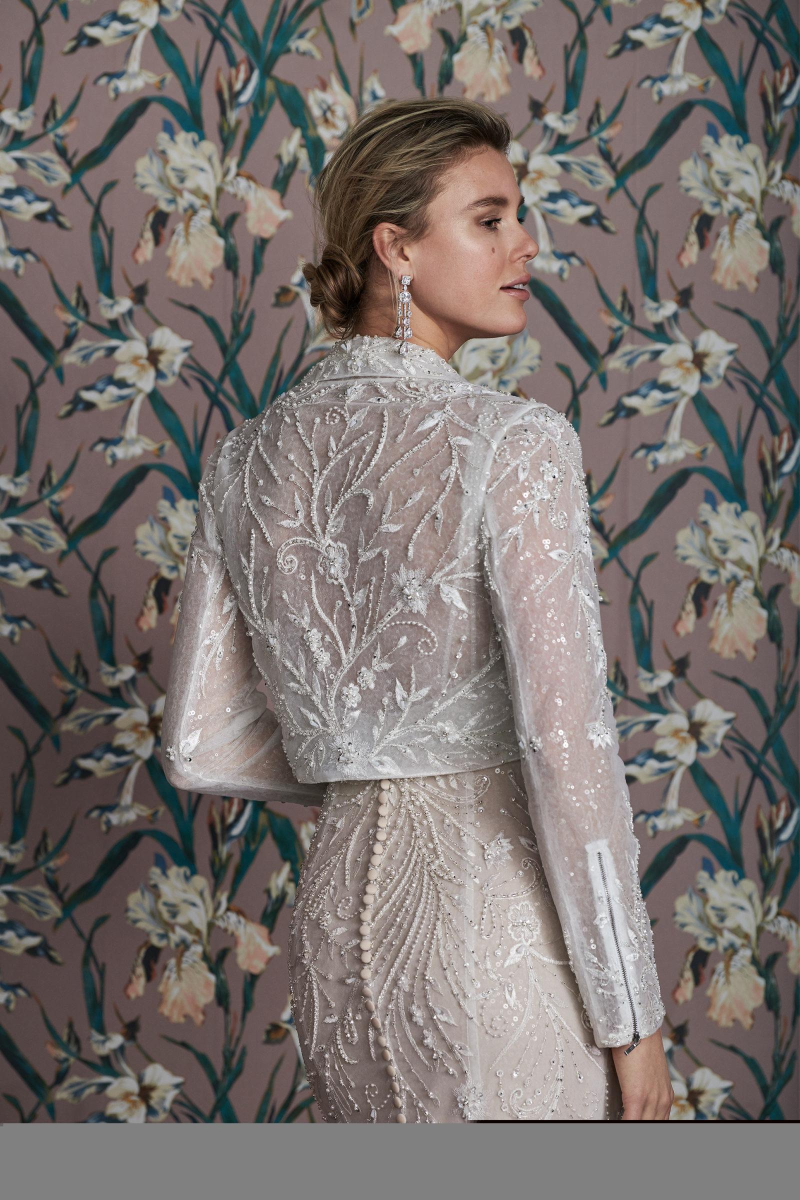 Beaded bridal jacket
