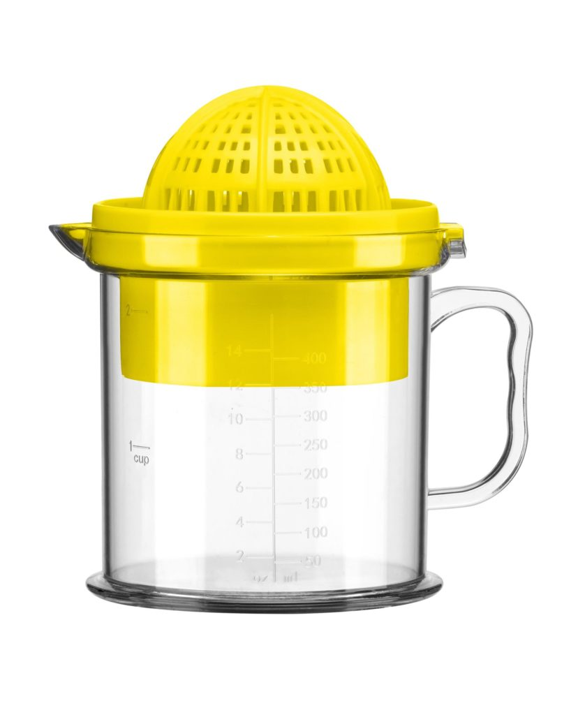 Yellow citrus juicer