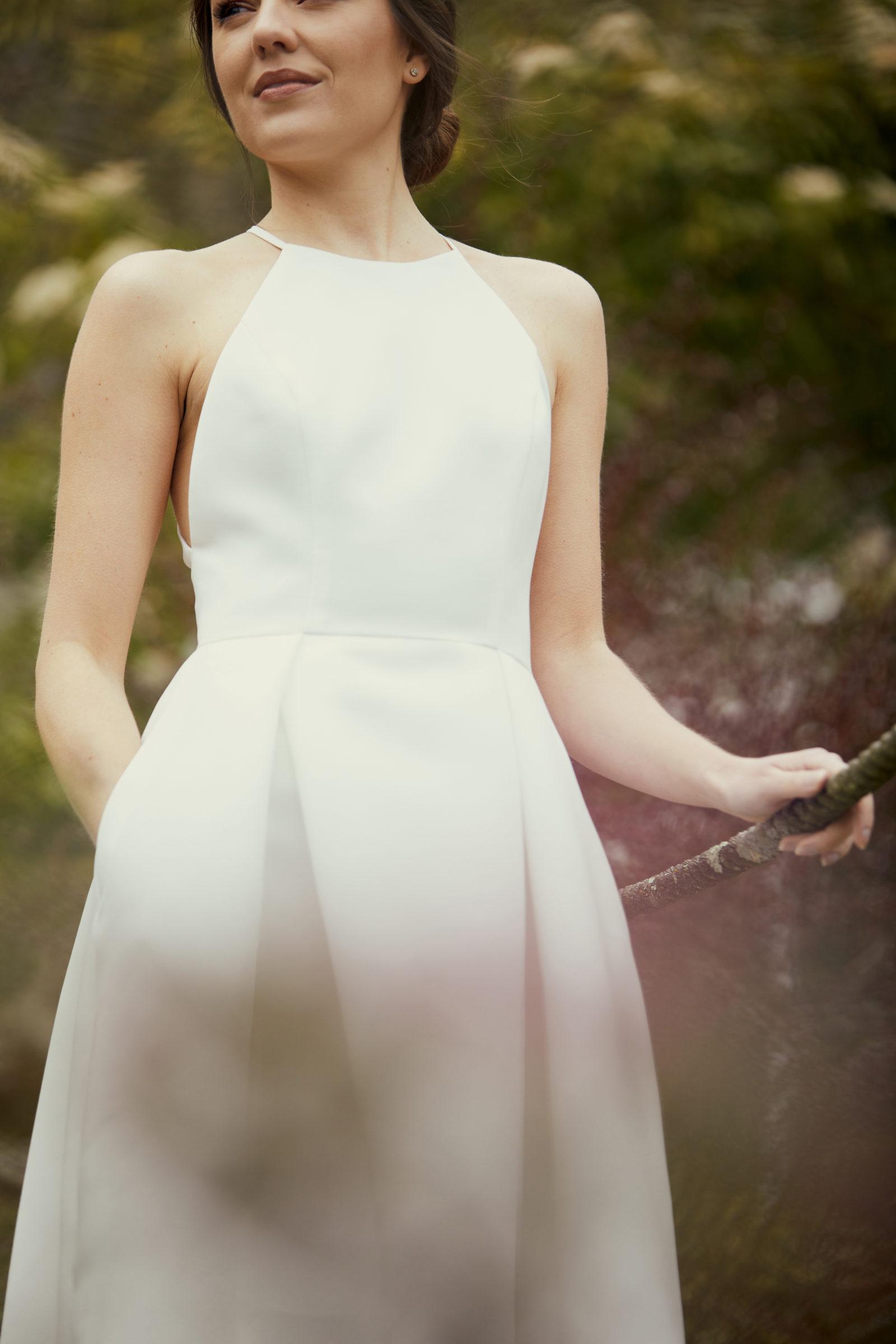 Little white dress for micro weddding