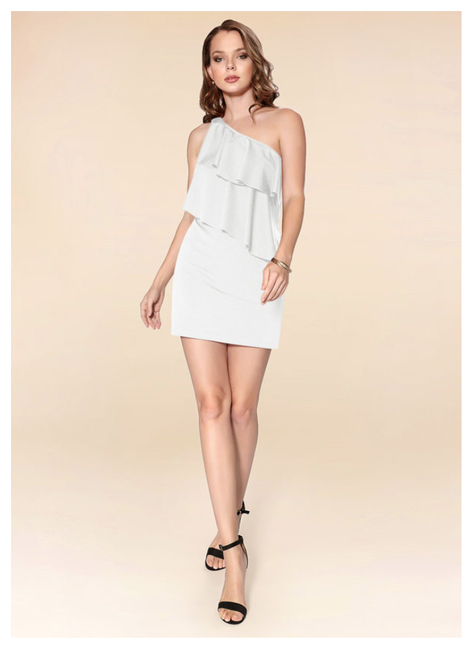 Ruffled top outfits for a micro wedding