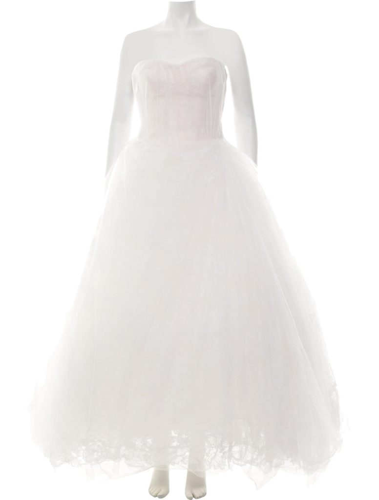 Vera Wang sustainable wedding gown