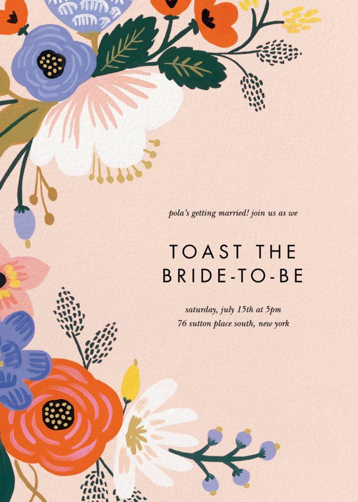 Eco-friendly bridal shower invitation