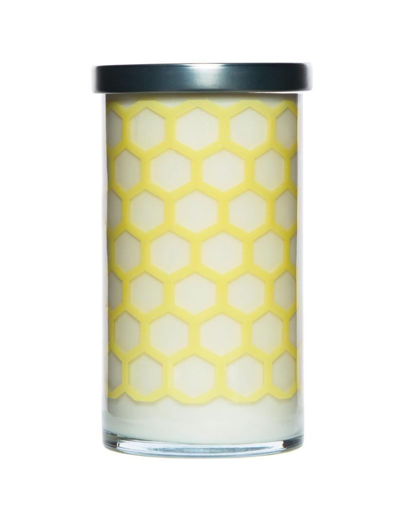 Yellow lemon sage candle