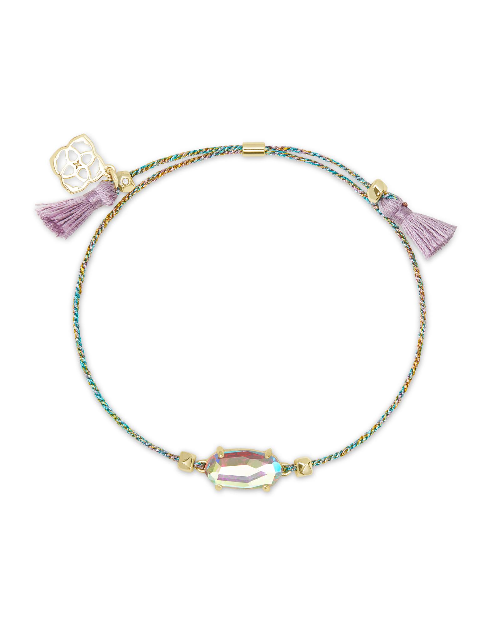 Gold and purple bracelet