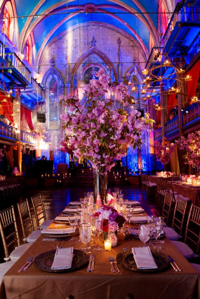 Cherry blossom centerpieces for spring wedding