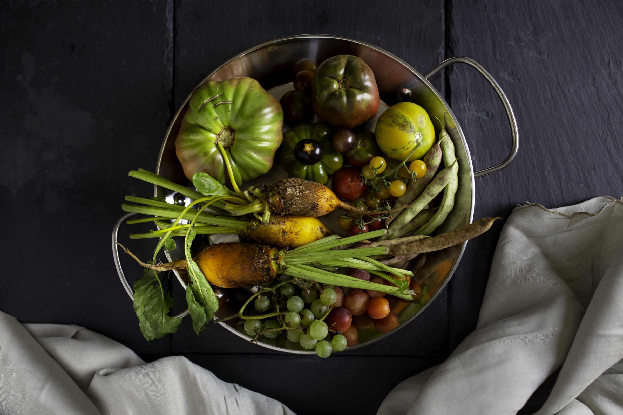 farm-to-table food for wedding