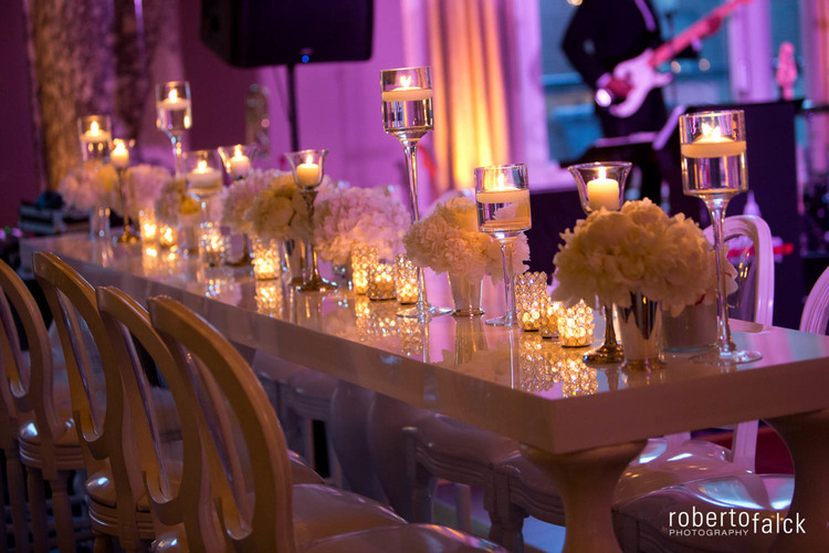 Moody centerpieces for spring weddings