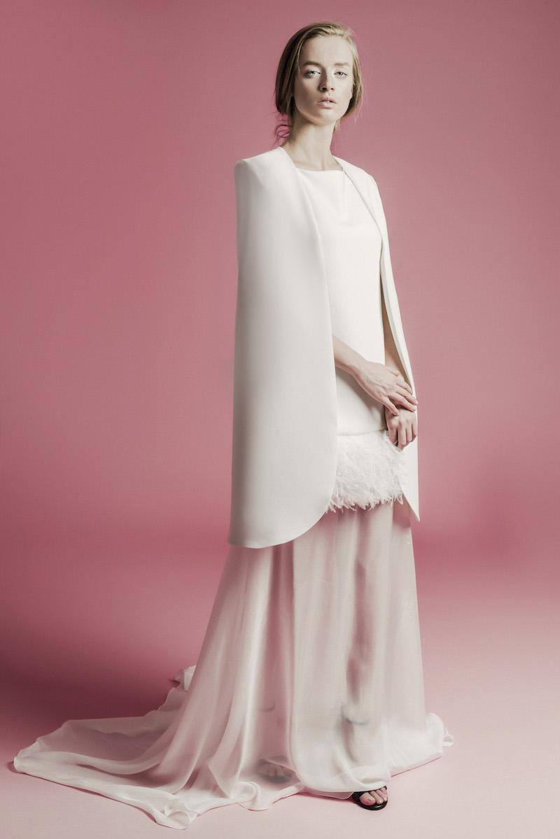 Mid-length bridal cape