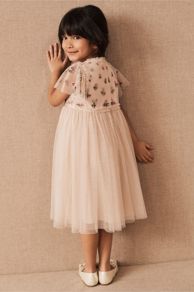 Flower girl dress flowers