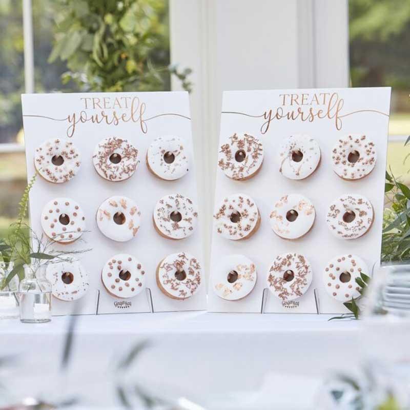 Donut wall at wedding