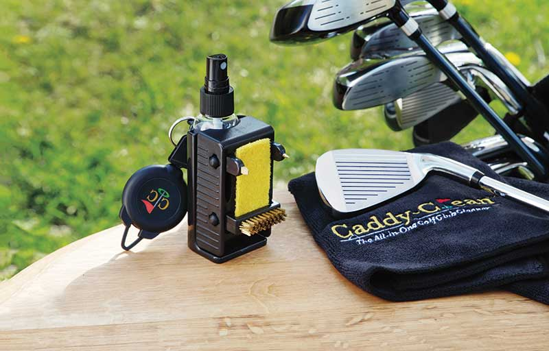 Golf club cleaner and golf clubs by The Grommet