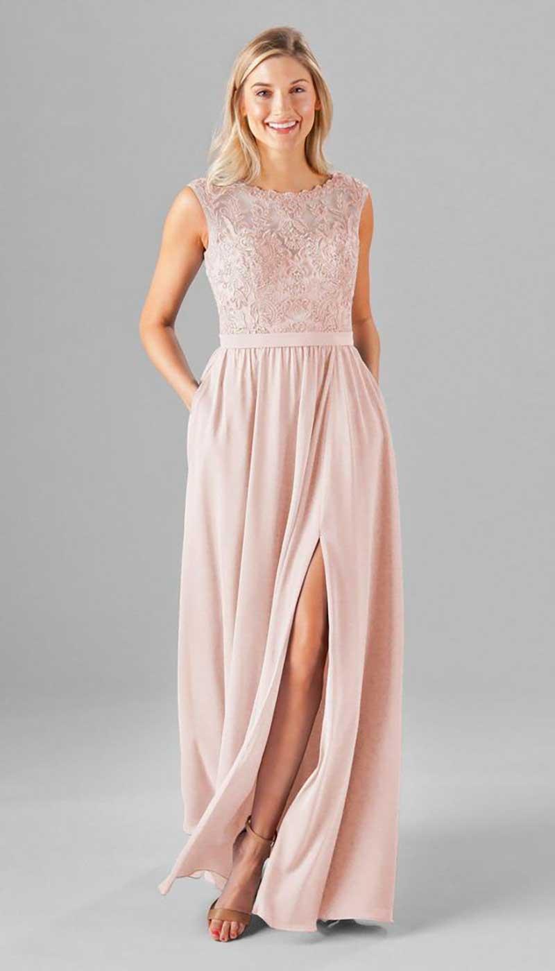 Blush bridesmaid dress by Kennedy Blue